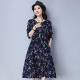 Buy Floral Art Linen Female New Dress Dress Blue Blue Online China