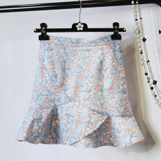 Buy Floral Korean Style Summer New Slim Fit Package Hip Skirt Irregular Skirts Red Cheap On China