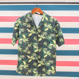 Shop For Couple S Floral Printed Short Sleeve Shirt Light Green Light Green