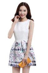 Buy Flower Bottom Casual Work Dress White Princessj Online