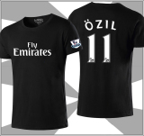 Football Round Neck I Short Sleeved T Shirt Ozil Arsenal Black For Sale