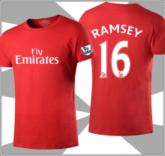 Get The Best Price For Football Round Neck I Short Sleeved T Shirt Ramsey Arsenal Red