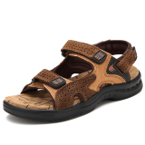 Sale Men S Casual Cowhide Leather Sandals 1215 Brown 1215 Brown Oem Original