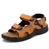 Buy Men S Casual Cowhide Leather Sandals 1215 Golden Color 1215 Golden Color Oem Cheap
