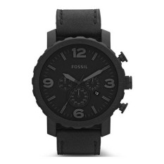 Fossil Nate Chronograph Men S Black Leather Strap Watch Jr1354 Sale