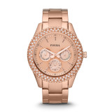 Fossil Stella Rose Gold Watch Es3003 Export For Sale Online