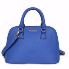 Discount Frezen Mango Cross Leather Tote Shell Shoulder Bag Blue Intl Frezen On China