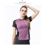 Sale Fullbelief Sports T Shirt Running Gym Blouse Bodybuilding Yoga Clothes Slim Quick Drying Ventilation Thin Shirt Female Sleeve Tee Purple) Intl