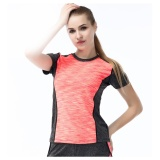Compare Fullbelief Sports T Shirt Running Gym Bodybuilding Yoga Slim Quick Drying Ventilation Thin Female Shirt Orange Pink) Intl Prices