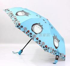 Fully Automatic Or Shine Rain Dual Use Umbrella Miyazaki Totoro Fully Automatic Sky Blue Color Sale