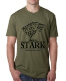 Low Price Funny Game Of Thrones T Shirt 2017 House Stark Winter Is Coming Print Tee Shirt Homme Summer Harajuku Top Crossfit Army Green Intl