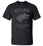 Latest Game Of Thrones House Stark Winter Is Coming T Shirt 2017 Summer Men Short Sleeve Shirt 100 Cottoirts Hip Hop Tops N T Shtees Black Intl