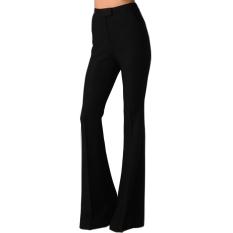 Latest Gamiss Women Bell Bottom Trousers High Waist Black Export