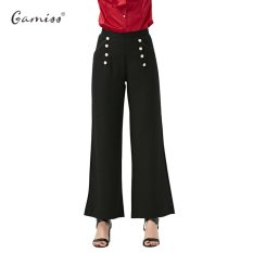 Sale Gamiss Women Fashion Office Lady Pants Woman Elegant Button Design Casual Pants Black Intl Gamiss Wholesaler