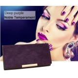 Gao Fan 2017 High Quality Fashion Women Purse Horsehair Cowhide Purse With Zipper Card Holder Wallet Purple Intl In Stock