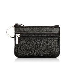 Genuine Ladies Leather Wallet Pouch Purse For Small Coin Card Key Ring Black Intl Reviews
