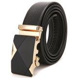 Best Genuine Leather Belt Buckle Male Leather Automatic Belt Leather Belt Size 45 Inch Intl
