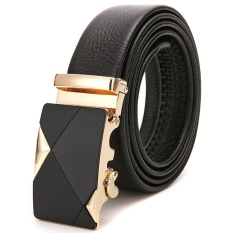 Price Comparisons Genuine Leather Belt Buckle Male Leather Automatic Belt Leather Belt Size 45 Inch Intl