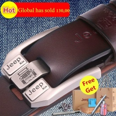 Genuine Leather Belt for Men Business Suit/ Jeans Belt 3.8cm Width 125cm Length Can
