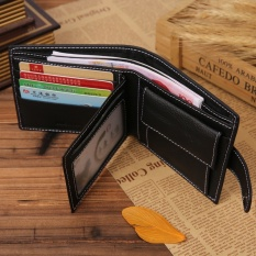 Genuine Leather Men Wallets Solid Sample Style Zipper Purse Man Card Horder Leather Famous Brand High Quality Male Wallet - intl