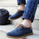 Buy Genuine Leather Oxford Men Flats Brogues Lace Ups Shoes Blue Intl On China