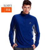 Lowest Price Tectop Exploration Extension Male Models Female Models Couple Models Stand Up Collar Long Sleeved Quick Drying T Shirt Full Polyester Mesh Quick Drying Clothes Dark Blue Men 5073
