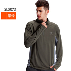 Discount Tectop Exploration Extension Male Models Female Models Couple Models Stand Up Collar Long Sleeved Quick Drying T Shirt Full Polyester Mesh Quick Drying Clothes Dark Green Men 5073 Tectop On China