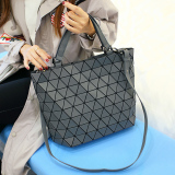 Shop For Women S Lozenge Pattern Shoulder Bag Dark Grey Dark Grey