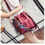 Elaine Tribal Bucket Bag Red Cheap