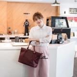 Geraldine Miko Shoulder Bag Red Wine Shop