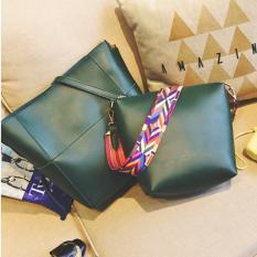 Great Deal Geraldine Tribal Strap Shoulder Bag Green