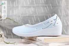 Great Deal Chinese Style Female Green Yi Square Antique Chinese Clothing Shoes Shoes Light Blue Light Blue