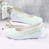 Lowest Price Chinese Style Female Green Yi Square Antique Chinese Clothing Shoes Shoes Light Green Light Green
