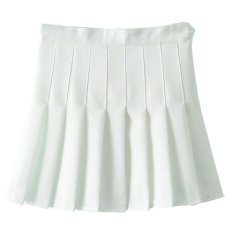 Discounted Getek Women A Line Pleated Mini Skirt White