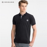 Best Price Giordano Men Lion Embroidery Polo Shirt 01016242 Black Intl