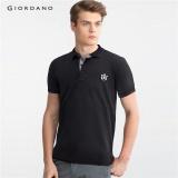 Latest Giordano Men Lion Embroidery Polo Shirt 01016242 Black Intl