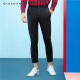 Buy Giordano Men Solid Ankle Length Pants 01125002 Black Intl Cheap On China