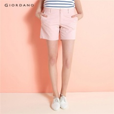 Giordano Women Mid Rise Casual Shorts 05407206 Chintz Rose Intl In Stock