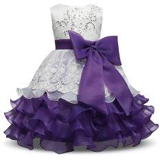 Cheapest G*rl Dress Children Kids Dresses For Girls 3 4 5 6 7 8 Year Birthday Outfits Dresses Girls Evening Party Formal Wear Purple Intl Online