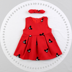 Compare Price Girls Autumn Korean Style Dress 2017 New Style Cartoon Princess Dress Baby Red Sweet Vest Dress 1 3 Year Old Oem On China