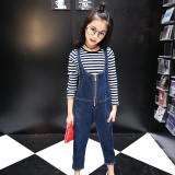 Girls Denim Overalls Summer Models Suit 10 Years Old Zhongshan University Children S Summer 12 G*rl Students Shorts Two Piece Sets Promo Code