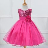 Best Rated Girls Dress Sequined Dress Veil Princess Dress Performance Dress Intl