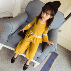 Discount Korean Style Knit Girls New Style Wide Leg Pants Oem On Singapore