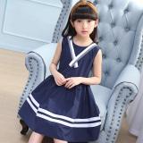 Price Comparisons Of Cuhk College Style Cotton G*rl S Summer Princess Dress Dark Blue Color