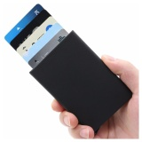 Buy Gl Black Card Block Rfid Blocking Wallet Credit Card Holder Slim Front Pocket Design Intl Online China