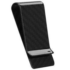 Best Price Glossy Finish Carbon Fiber Business Card Cash Wallet Money Clip Black