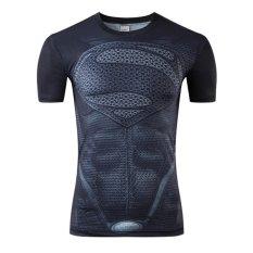 Best Reviews Of Good Quality Big Size Xs 4Xl Superman Short Sleeve O Neck Women Men Unisex Hero T Shirt Black Intl