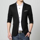 Good Quality Cotton Slim Fat Man Big Size Suit Jacket Blazer Black Promo Code