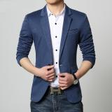 Who Sells The Cheapest Good Quality Cotton Slim Fat Man Big Size Suit Jacket Blazer Blue Online