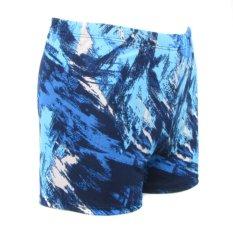 How To Get Good Quality Fashion Men Swimming Trunks Fat Man Swim Shorts Lake Blue Intl